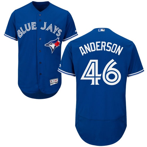 Men's Majestic Toronto Blue Jays #46 Brett Anderson Royal Blue Flexbase Authentic Collection MLB Jersey