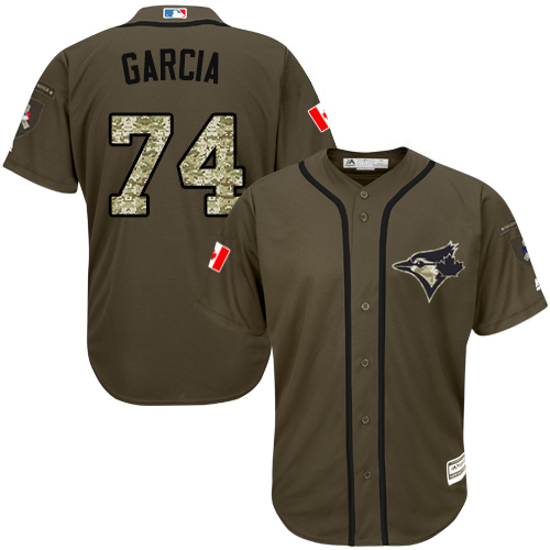 Men's Majestic Toronto Blue Jays #74 Jaime Garcia Authentic Green Salute to Service MLB Jersey