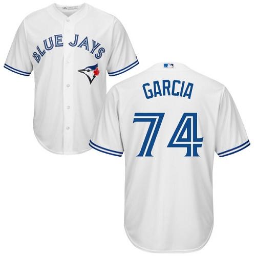 Men's Majestic Toronto Blue Jays #74 Jaime Garcia Replica White Home MLB Jersey