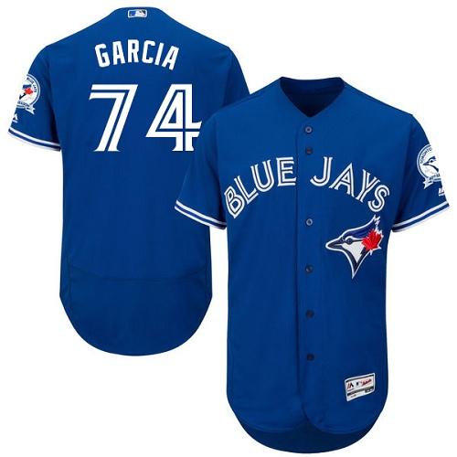 Men's Majestic Toronto Blue Jays #74 Jaime Garcia Royal Blue Alternate Flex Base Authentic Collection MLB Jersey
