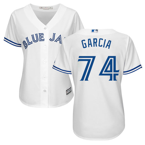 Women's Majestic Toronto Blue Jays #74 Jaime Garcia Authentic White Home MLB Jersey
