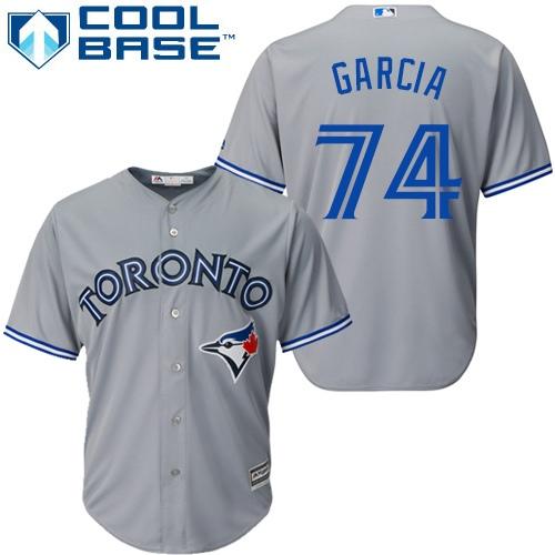 Youth Majestic Toronto Blue Jays #74 Jaime Garcia Replica Grey Road MLB Jersey
