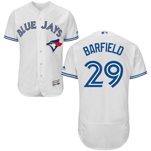Men's Majestic Toronto Blue Jays #29 Jesse Barfield White Flexbase Authentic Collection MLB Jersey