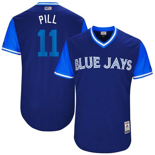 Men's Majestic Toronto Blue Jays #11 Kevin Pillar