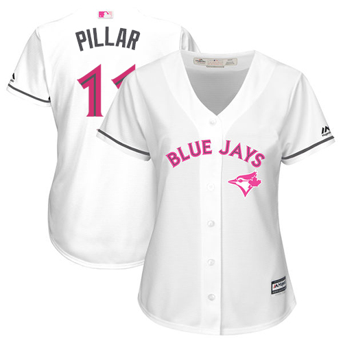 Women's Majestic Toronto Blue Jays #11 Kevin Pillar Authentic White Mother's Day Cool Base MLB Jersey