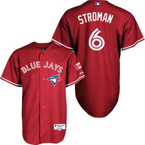 Men's Majestic Toronto Blue Jays #6 Marcus Stroman Replica Red Canada Day MLB Jersey