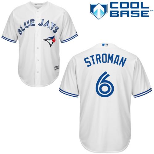Men's Majestic Toronto Blue Jays #6 Marcus Stroman Replica White Home MLB Jersey
