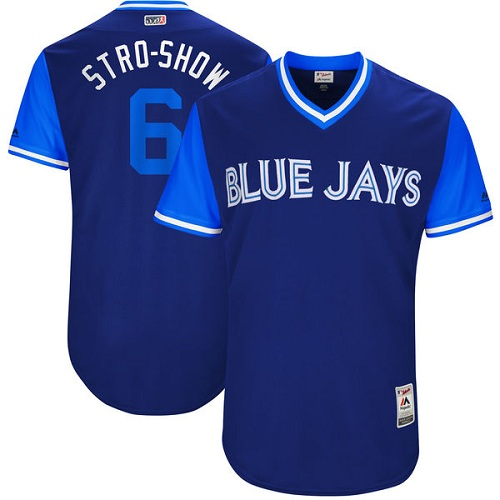 Men's Majestic Toronto Blue Jays #6 Marcus Stroman