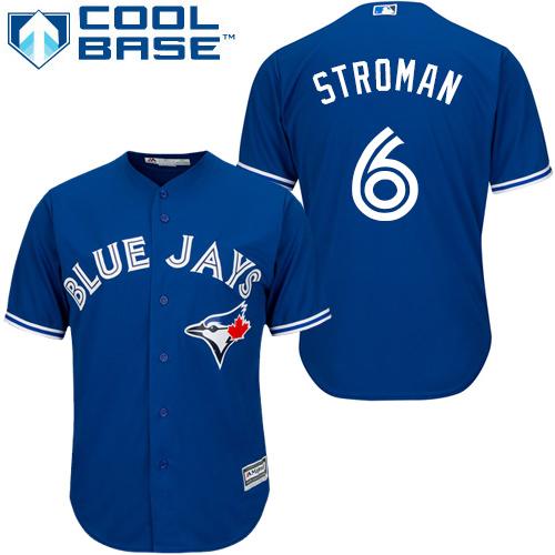 Youth Majestic Toronto Blue Jays #6 Marcus Stroman Authentic Blue Alternate MLB Jersey