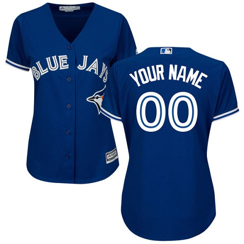 Women's Majestic Toronto Blue Jays Customized Authentic Blue Alternate MLB Jersey