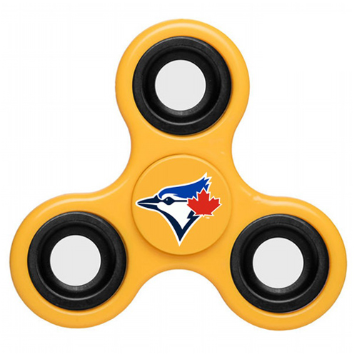 MLB Toronto Blue Jays 3 Way Fidget Spinner D37 - Yellow