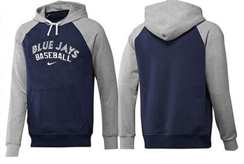 MLB Men's Nike Toronto Blue Jays Pullover Hoodie - Navy/Grey