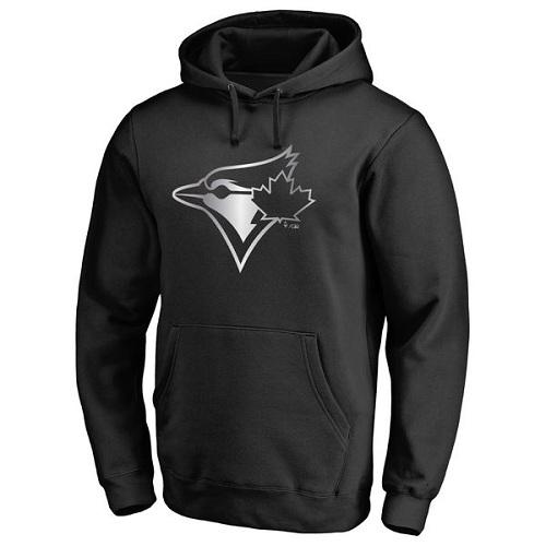 MLB Toronto Blue Jays Platinum Collection Pullover Hoodie - Black