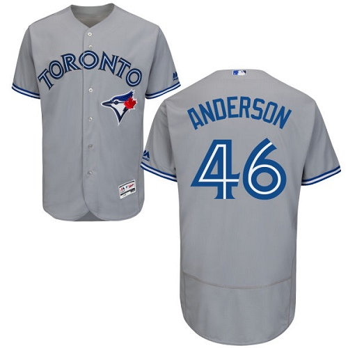 Men's Majestic Toronto Blue Jays #46 Brett Anderson Grey Flexbase Authentic Collection MLB Jersey
