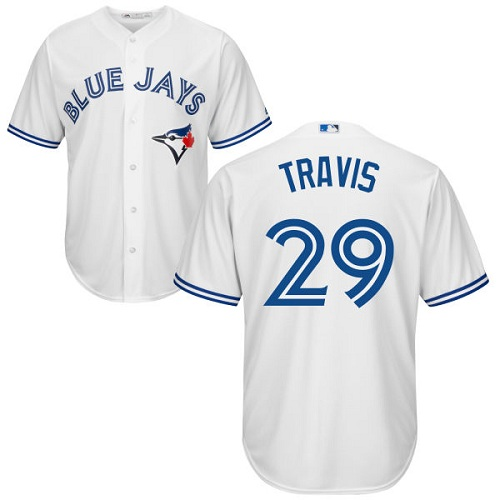 Youth Majestic Toronto Blue Jays #29 Devon Travis Authentic White Home MLB Jersey