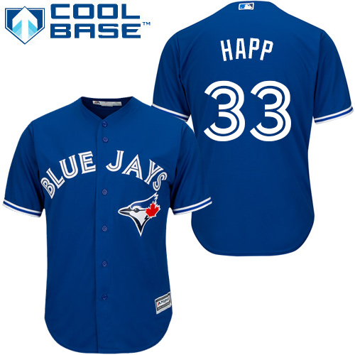 Youth Majestic Toronto Blue Jays #33 J.A. Happ Replica Blue Alternate MLB Jersey