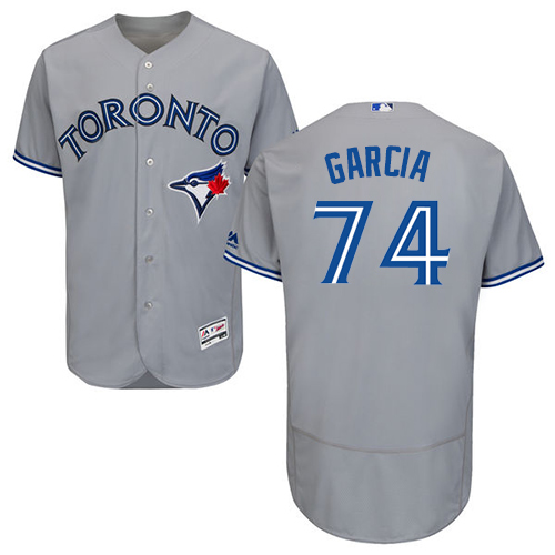 Men's Majestic Toronto Blue Jays #74 Jaime Garcia Grey Road Flex Base Authentic Collection MLB Jersey