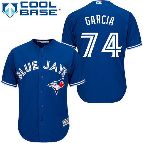 Youth Majestic Toronto Blue Jays #74 Jaime Garcia Replica Blue Alternate MLB Jersey