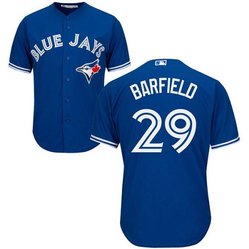 Men's Majestic Toronto Blue Jays #29 Jesse Barfield Replica Blue Alternate MLB Jersey