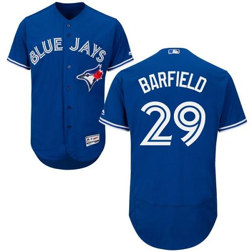 Men's Majestic Toronto Blue Jays #29 Jesse Barfield Royal Blue Flexbase Authentic Collection MLB Jersey