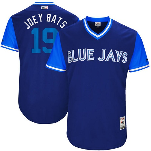 Men's Majestic Toronto Blue Jays #19 Jose Bautista