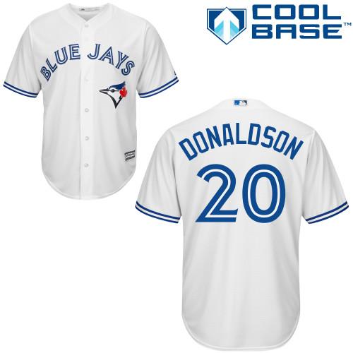 Men's Majestic Toronto Blue Jays #20 Josh Donaldson Replica White Home MLB Jersey