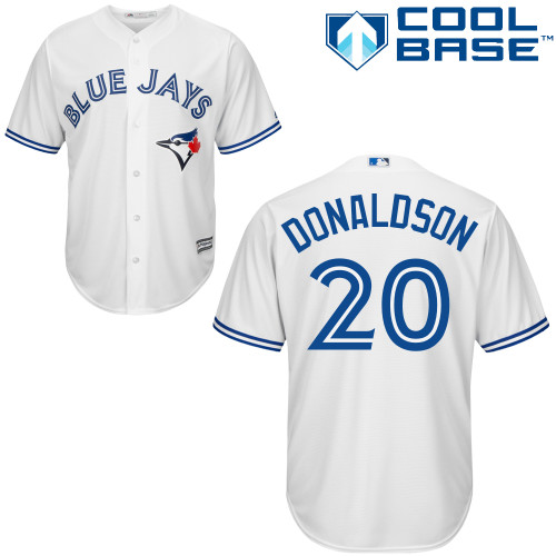 Women's Majestic Toronto Blue Jays #20 Josh Donaldson Authentic White MLB Jersey