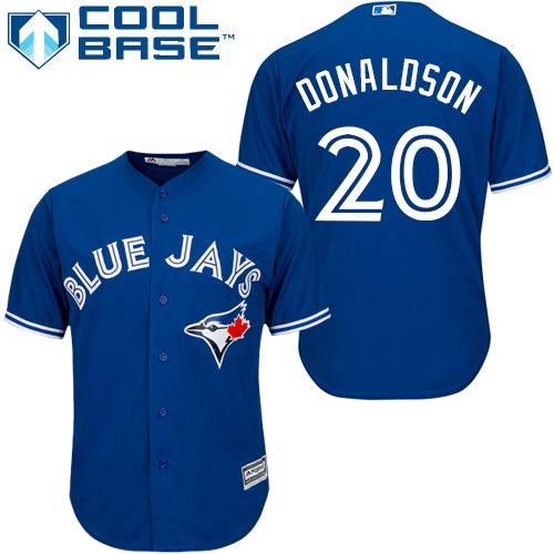 Women's Majestic Toronto Blue Jays #20 Josh Donaldson Replica Blue MLB Jersey