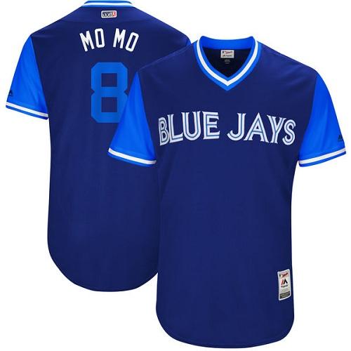 Men's Majestic Toronto Blue Jays #8 Kendrys Morales