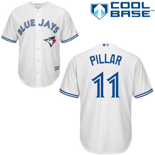 Women's Majestic Toronto Blue Jays #11 Kevin Pillar Replica White MLB Jersey