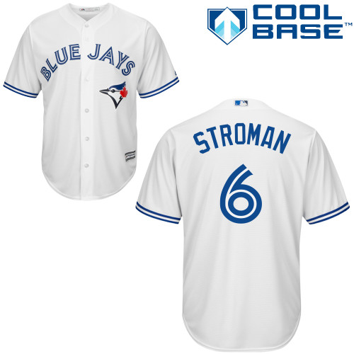 Men's Majestic Toronto Blue Jays #6 Marcus Stroman Replica White Home MLB Jersey