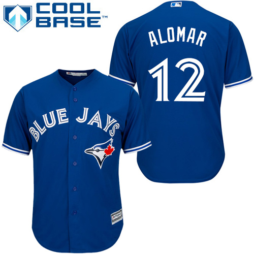 Youth Majestic Toronto Blue Jays #12 Roberto Alomar Authentic Blue Alternate MLB Jersey