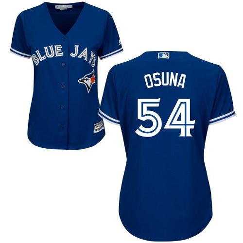 Women's Majestic Toronto Blue Jays #54 Roberto Osuna Authentic Blue Alternate MLB Jersey