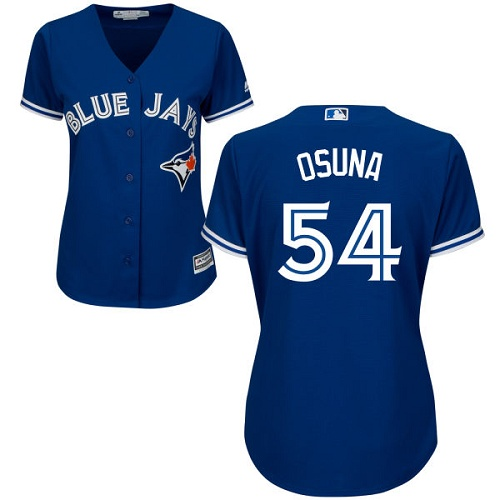Women's Majestic Toronto Blue Jays #54 Roberto Osuna Replica Blue Alternate MLB Jersey