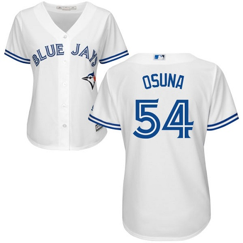 Women's Majestic Toronto Blue Jays #54 Roberto Osuna Replica White Home MLB Jersey