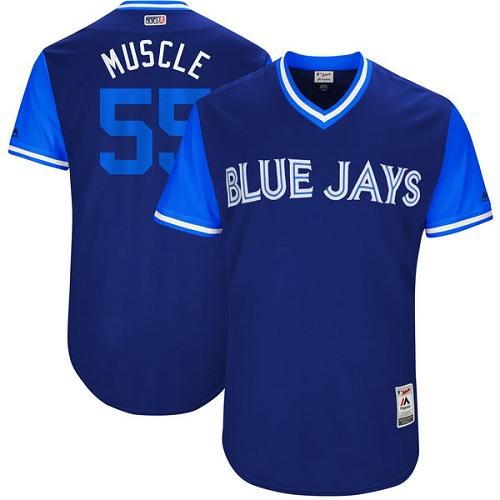 Men's Majestic Toronto Blue Jays #55 Russell Martin