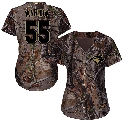 Women's Majestic Toronto Blue Jays #55 Russell Martin Authentic Camo Realtree Collection Flex Base MLB Jersey