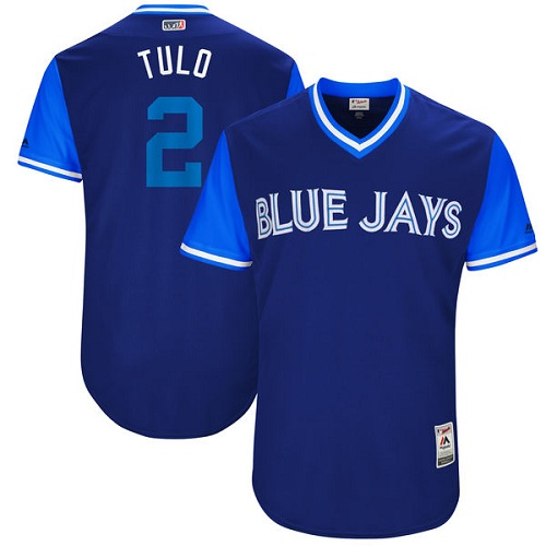 Men's Majestic Toronto Blue Jays #2 Troy Tulowitzki