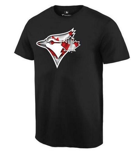 MLB Men's Toronto Blue Jays Navy Banner Wave T-Shirt