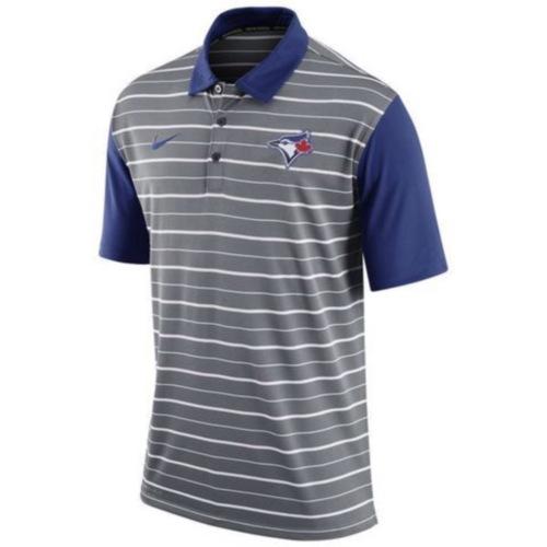 MLB Men's Toronto Blue Jays Nike Gray Dri-FIT Stripe Polo
