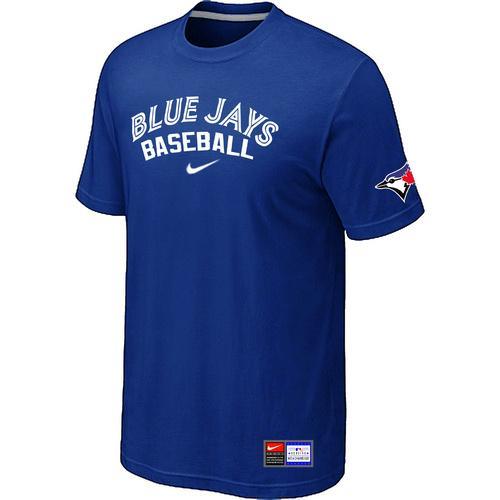 MLB Men's Toronto Blue Jays Nike Practice T-Shirt - Blue