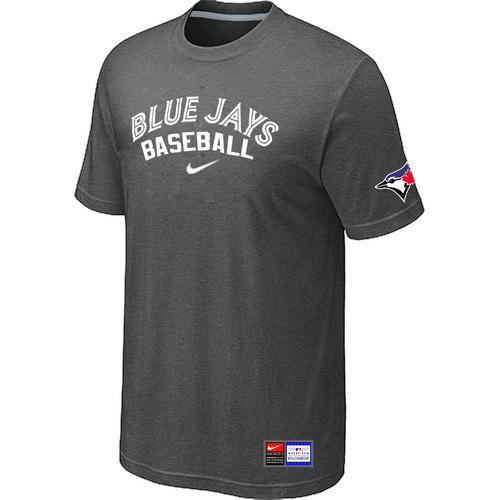 MLB Men's Toronto Blue Jays Nike Practice T-Shirt - Dark Grey