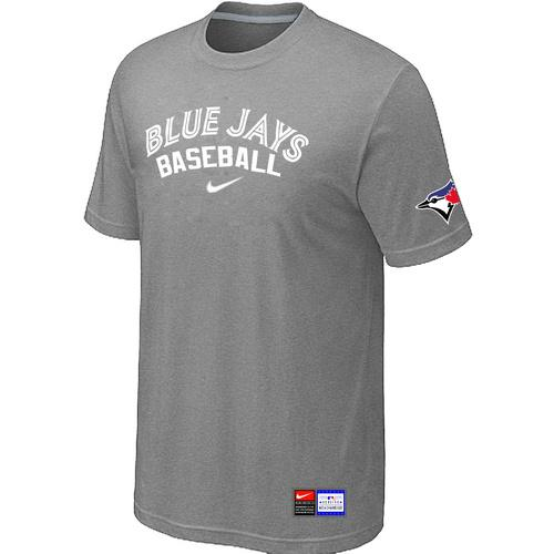 MLB Men's Toronto Blue Jays Nike Practice T-Shirt - Grey