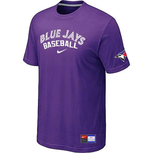 MLB Men's Toronto Blue Jays Nike Practice T-Shirt - Purple