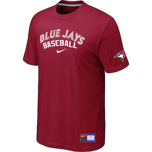 MLB Men's Toronto Blue Jays Nike Practice T-Shirt - Red