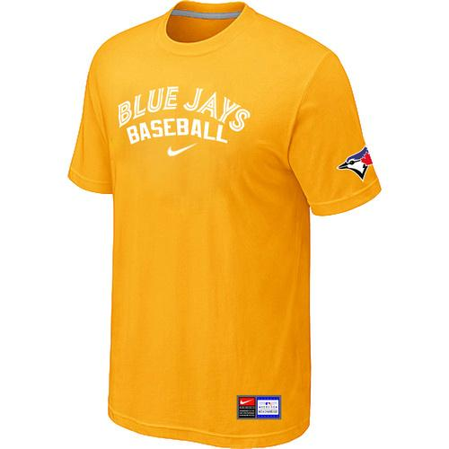 MLB Men's Toronto Blue Jays Nike Practice T-Shirt - Yellow