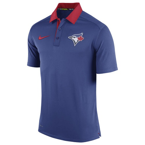 MLB Men's Toronto Blue Jays Nike Royal Authentic Collection Dri-FIT Elite Polo