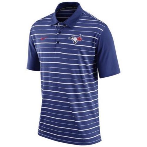MLB Men's Toronto Blue Jays Nike Royal Dri-FIT Stripe Polo