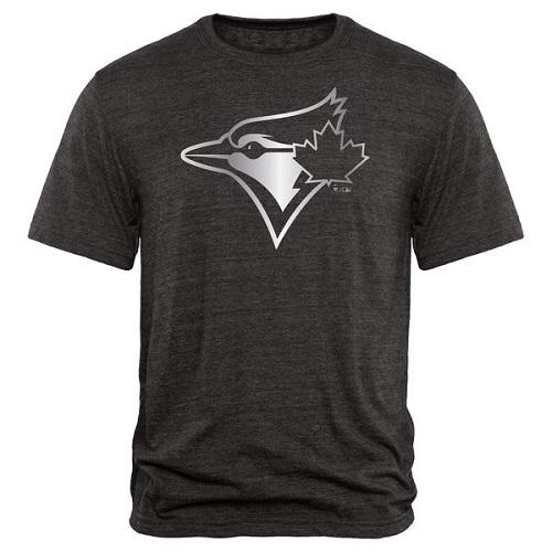 MLB Toronto Blue Jays Fanatics Apparel Platinum Collection Tri-Blend T-Shirt - Black