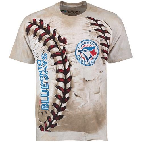 MLB Toronto Blue Jays Hardball Tie-Dye T-Shirt - Cream